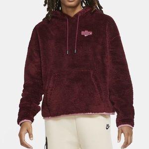 Nike Plush Fleece Hoodie - Dark Beetroot/Berry